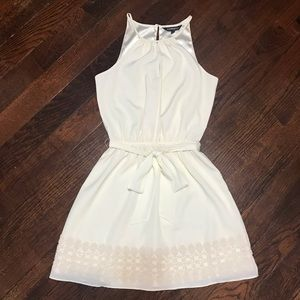 Express White Halter Dress Formal Party Wedding XS